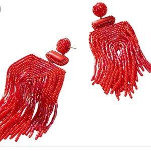 NWT Red beaded earrings